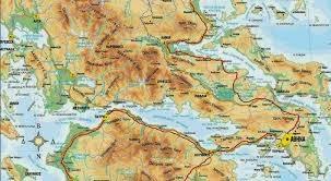 Στερεά Ελλάδα, γεωφυσικός χάρτης Στερεάς Ελλάδας, Ελληνικές φυλές.