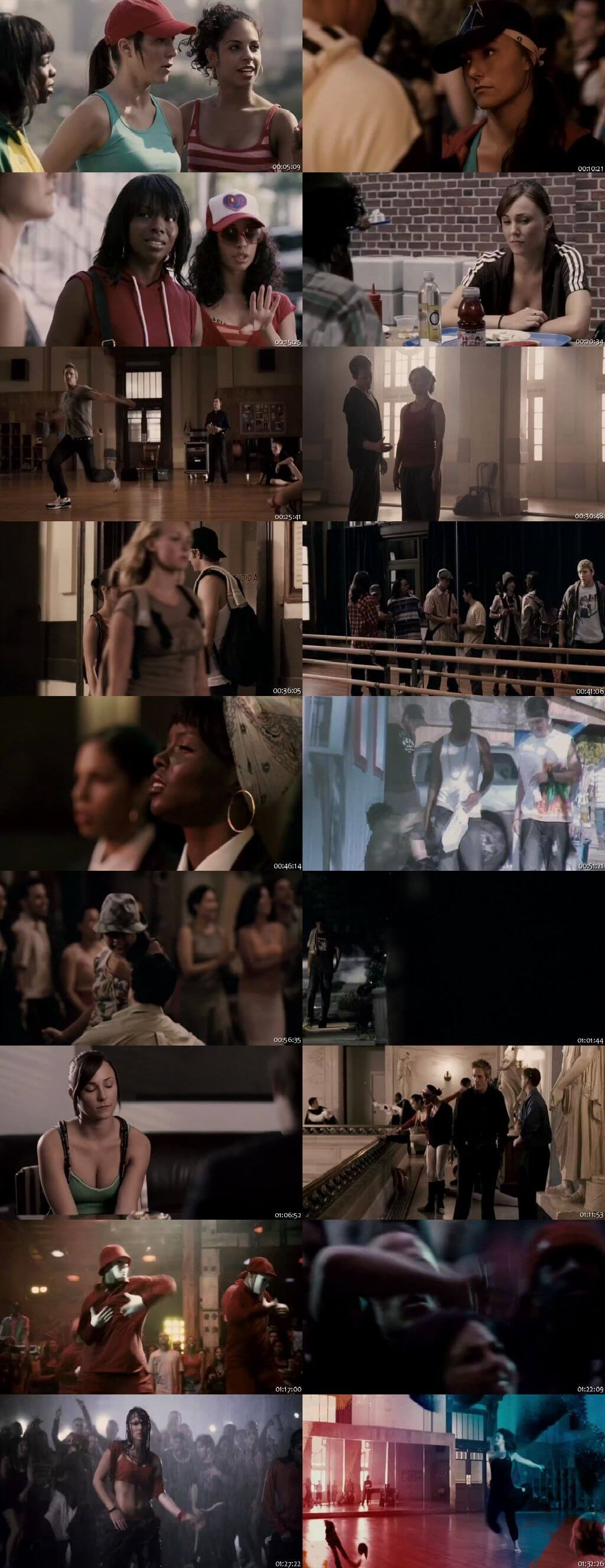 Screen Shot Of Step Up 2: The Streets 2008 300MB Full Movie Hindi Dubbed Free Download 720P BRRip HEVC