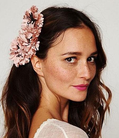 Inspiração flores - presilha no cabelo
