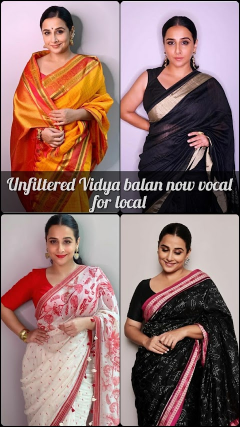 Vocal For Local | Vidya Balan Classic Handloom Sarees That Deserves To Be In Your Closet Now.