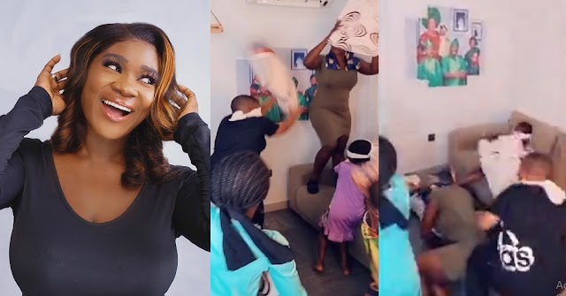 'Dem Don Throw Their Mama For Ground'- Mercy Johnson Says As Her Kids Gangs Up Against Her [VIDEO]