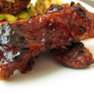 Barbecued Seitan Ribs & BBQ Sauce.