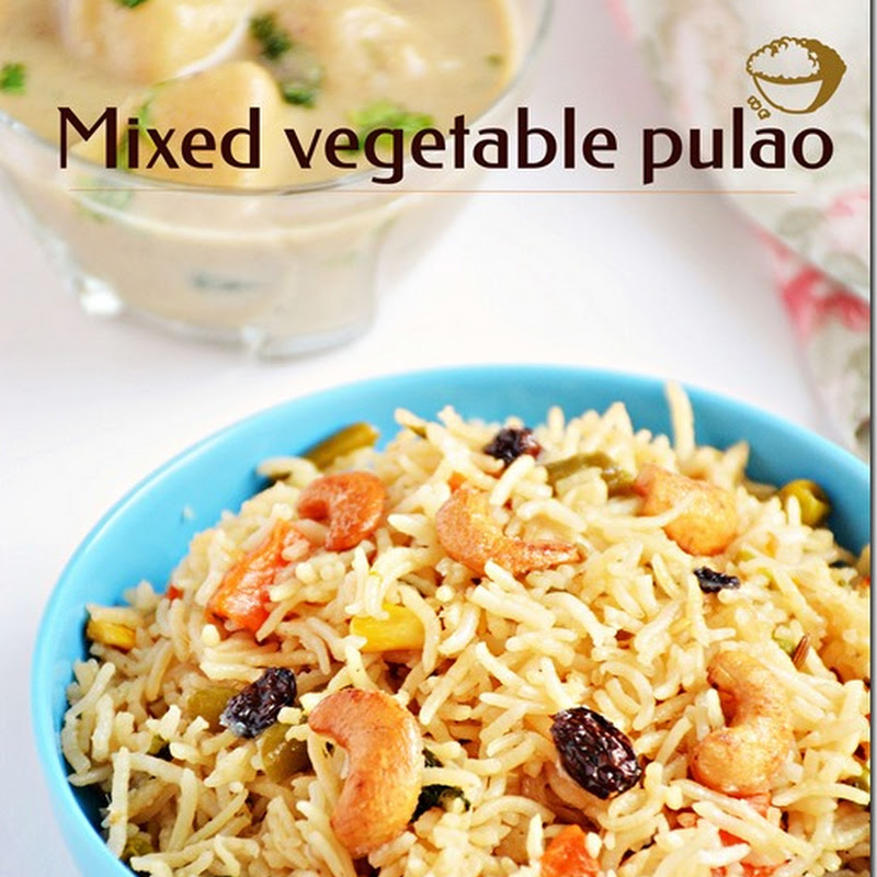 Mixed vegetable pulao / Vegetable pulao