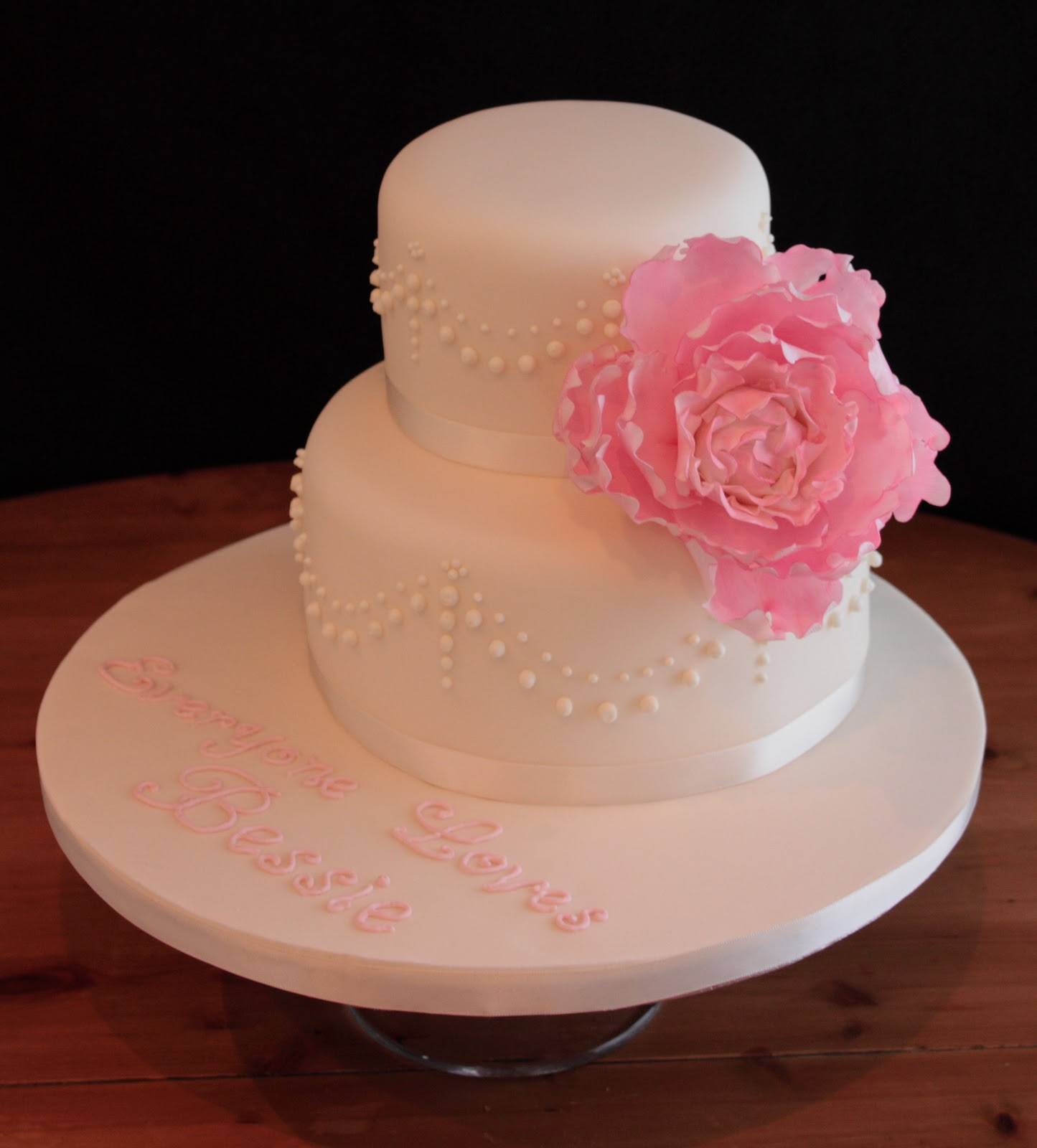 Very Nice Cake Images : Vanilla: Peony birthday cake