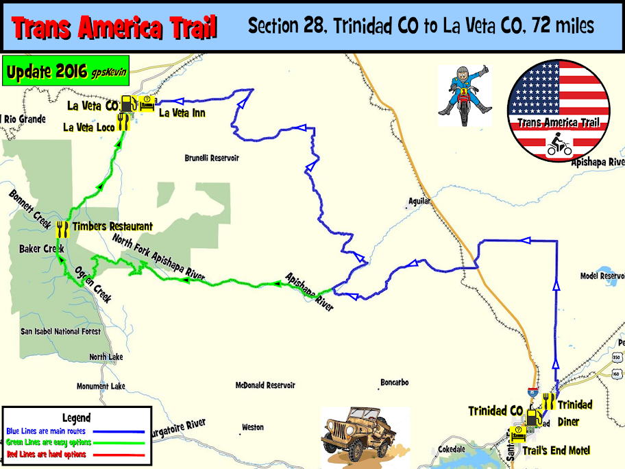 Tat Section 28 Trinidad Co To La Veta Co Gpskevin Adventure Rides