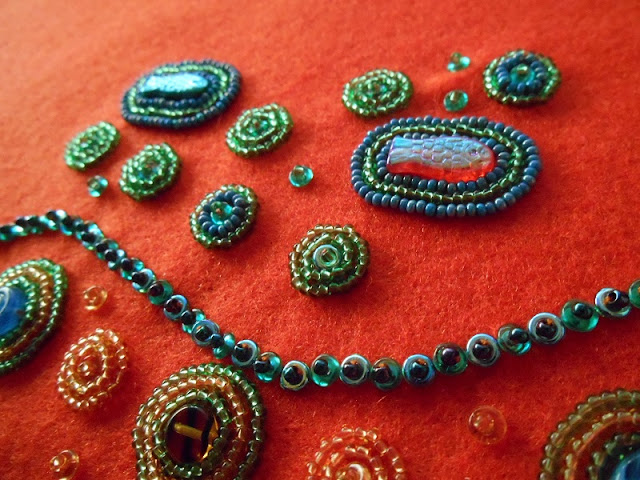 Bead Embroidered Ocean Scene