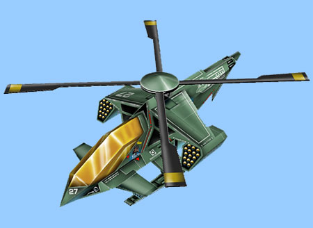 Raven 4 Helicopter Papercraft