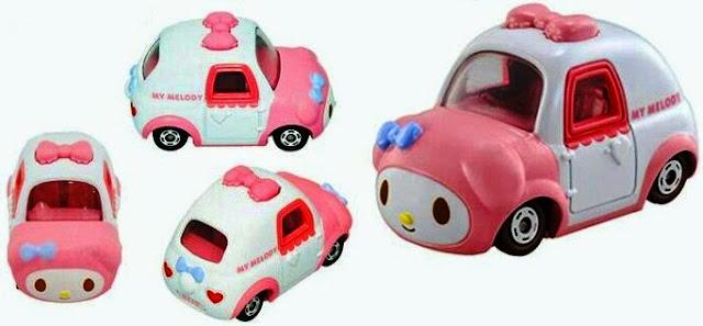 Mô hình Dream Tomica xe hình Thỏ My Melody thật sinh động và đẹp mắt