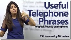 EXPRESSIONS DEALING WITH TELEPHONE