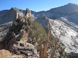 Ridge atop of Obelisk Peak. Mt Clark in the top right.