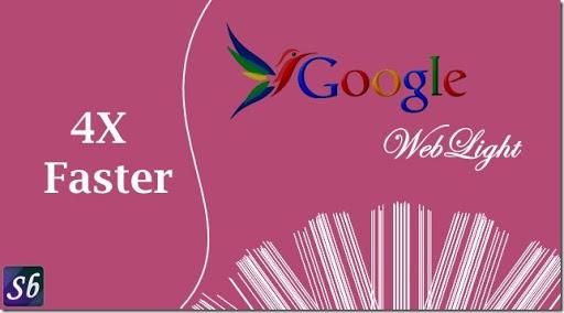 Using GoogleWebLight in Desktop Browser