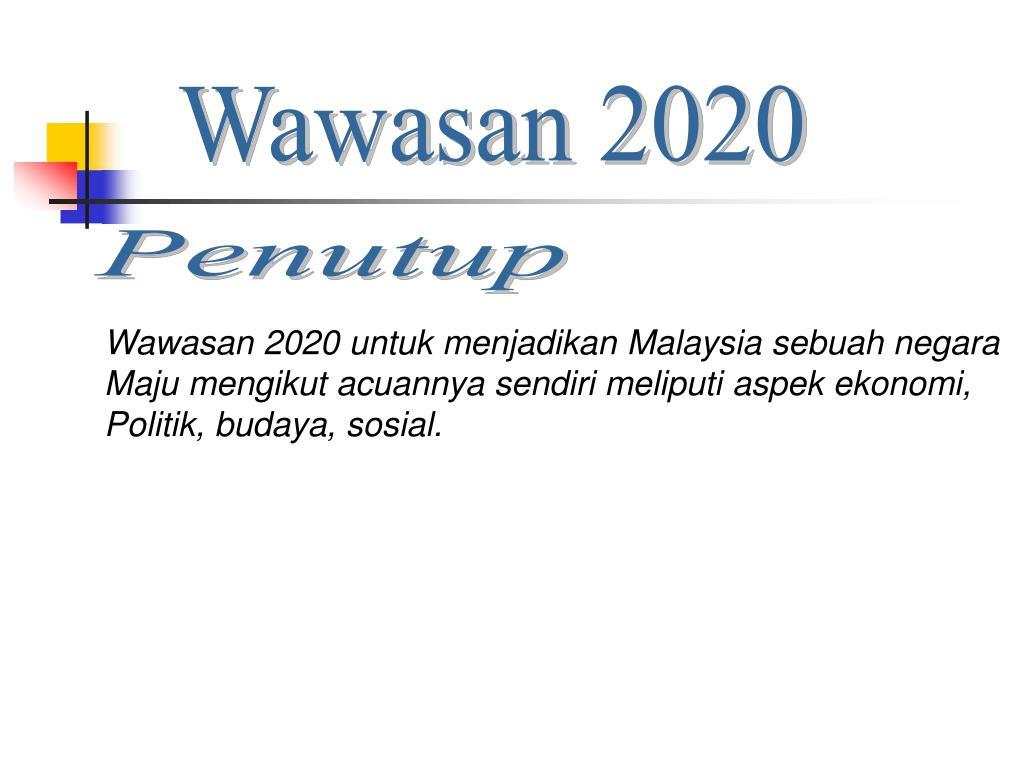 Imbas Kembali Wawasan 2020 Malaysia Sebagai Negara Maju