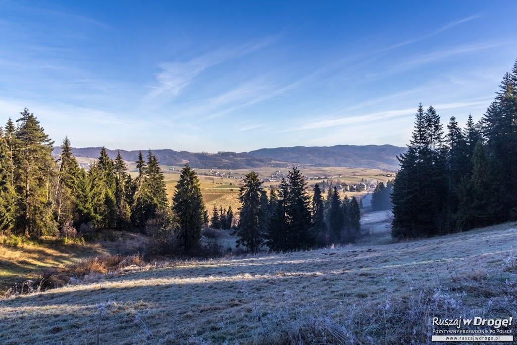 Pieniński Park Narodowy - po prawej zima, po lewej jesień