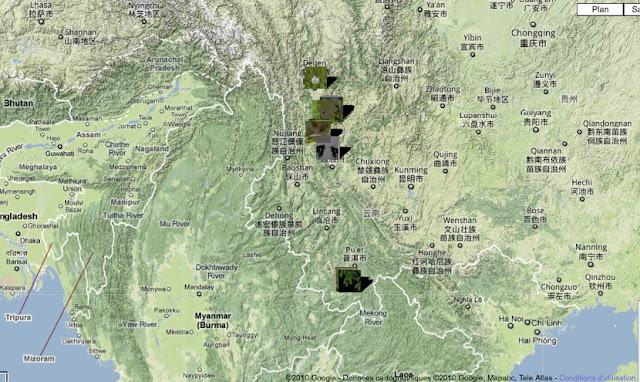 Localisation des photos au Yunnan