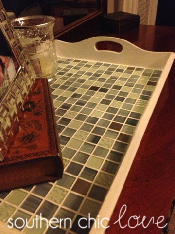 "alt=""Tile tray makeover diy"""