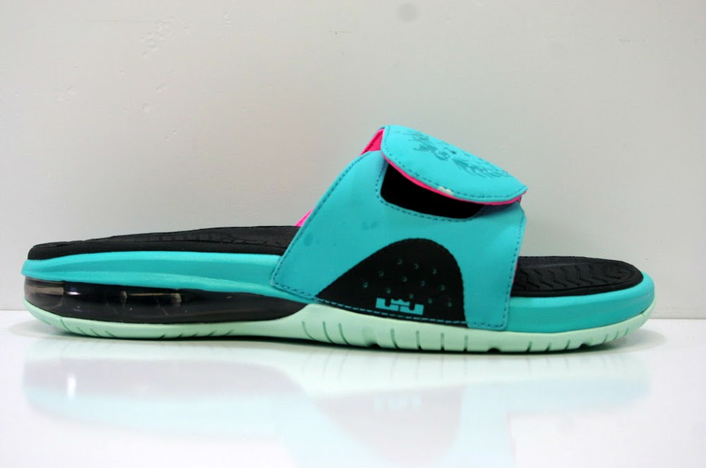 ... Nike LeBron Air Slide 8220South Beach8221 Available at Eastbay. flip  flopsnike lebron 9sandalslidesouth beach 0428f40f0