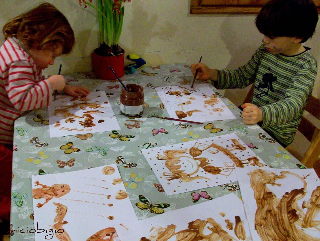 Popolare MICIOBIGIO: Dipingere con la cioccolata AE29
