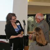 Hedy awarding Gerry Kraus his 50yr award