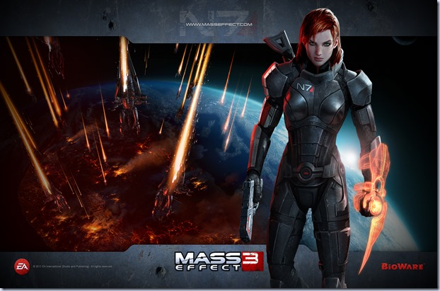 Mass Effect 3 - FemShep - 1920x1200