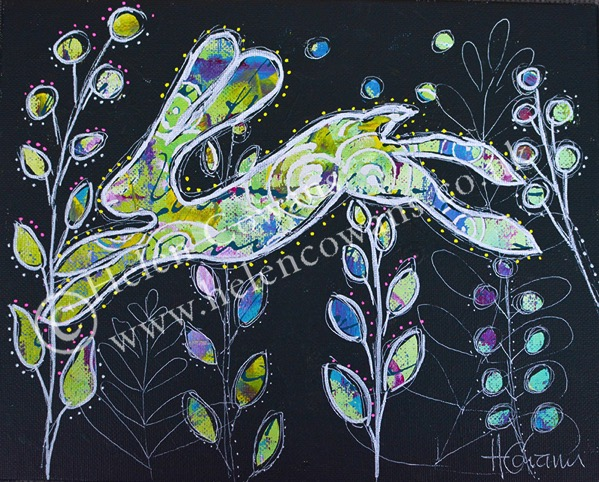 Hare on board 10 x8