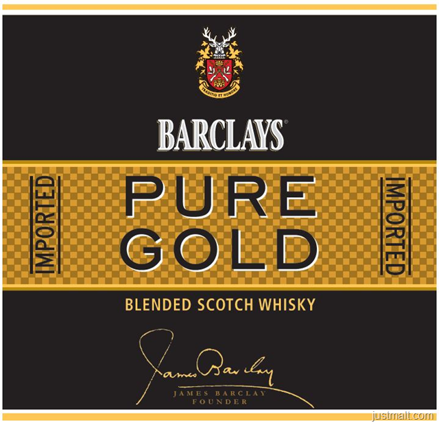 Barclays Pure Gold Blended Scotch Whiskey