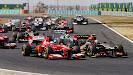 Alonso VS Grosjean in to second corner