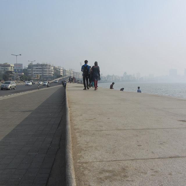 Marine Drive seawall, Mumbai