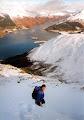 Paul, Decending from Beinn a'Bheithir above Loch Leven. 2001ish?