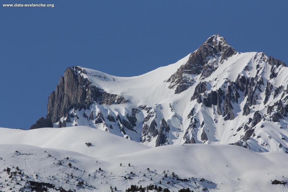 Avalanche Vanoise, secteur Dent Parrachée, Chaise du Pape. Pente sommitale - Photo 1 - © Duclos Alain