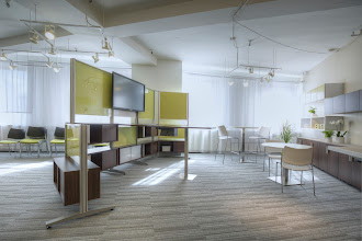 Photo: Keep 120 Wall - NOAPA 1st Place: Shown with Bistro and Escalate seating on the right.