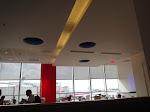 The restaurant was delightfully modern