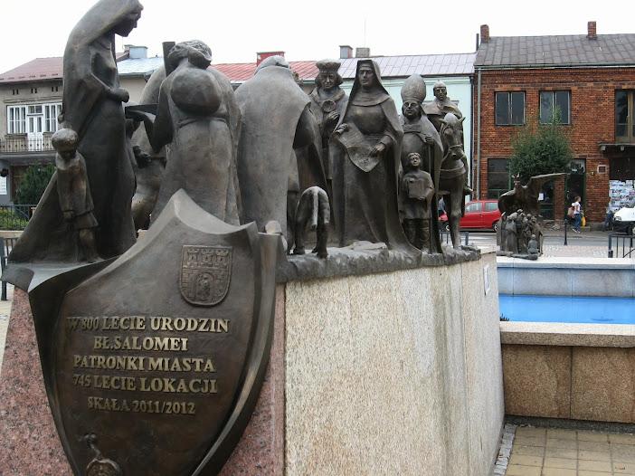 Skała, pomnik ku czci bł. Salomei