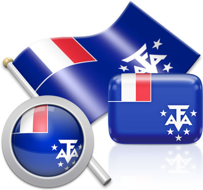 French Southern Territories  flag icons pictures collection
