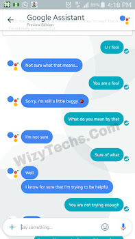 His Hilarious Conversation With Google Allo Robot (AI Assistant) Today