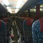 Het interieur van de Bova Magiq van Eurolines / Bovo Tours bus 334