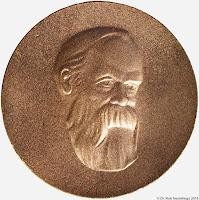 043a Friedrich-Engels-Preis III. Klasse in Bronze www.ddrmedailles.nl