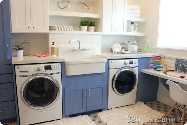 bright blue laundry