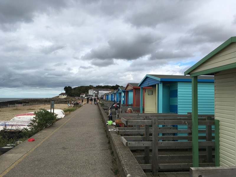 Beach Huts in Whitstable Harbour
