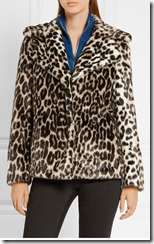 Stella McCartney Leopard Print faux fur jacket