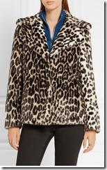 Stella McCartney Leopard Print faux fur jacket