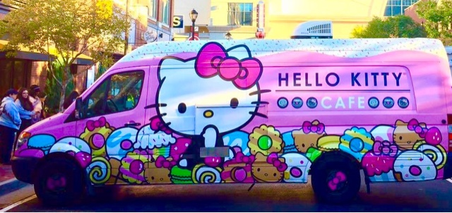 hello kitty cafe truck atlantic station top mom mommy motherhood black blogger