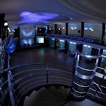 Velký sál Slovanského domu oděný v modré