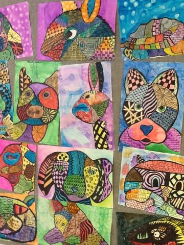 Middle school OP ART designs | Middle school art projects ...  |Middle School Art Lesson Ideas