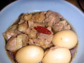 玉子と鶏肉の煮物