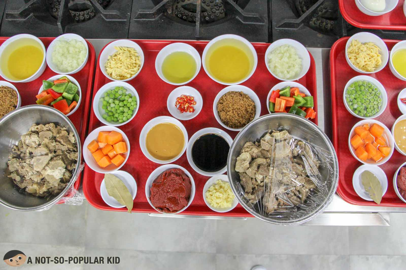 Ingredients for Culinary Group Activity in PACE Araneta