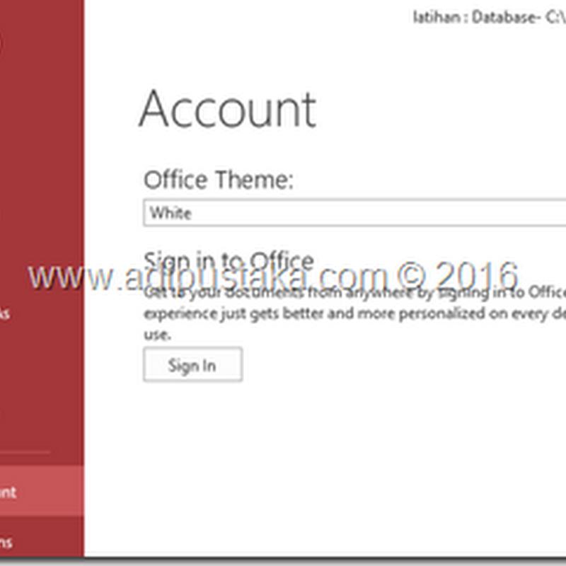 Mengganti Warna Tampilan Microsoft Access 2013