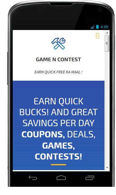 PLAY GAME CONTESTS WIN CASH- screenshot