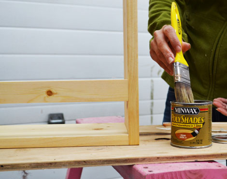 One Step Color And Clear Coat Finish Minwax Polyshades Pecan Ana