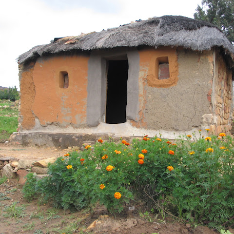 This is where Karabo and her family lives, near the small town of Morija in Lesotho.