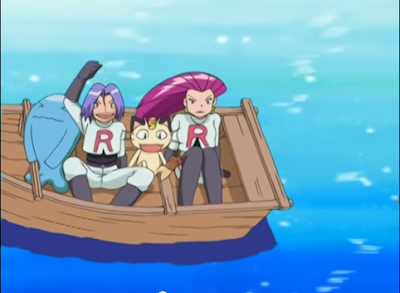 team rocket on a boat